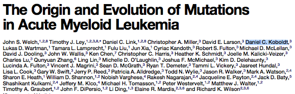 Mutation and Evolution in AML